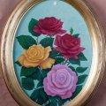 Ovale con fiori